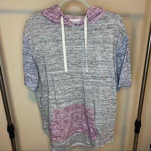 Carbon Longer Length Hooded Shirt